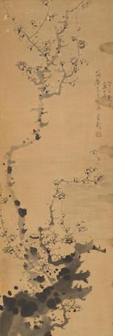 Jin Lan (1841-1910) Ink Plum, 1893