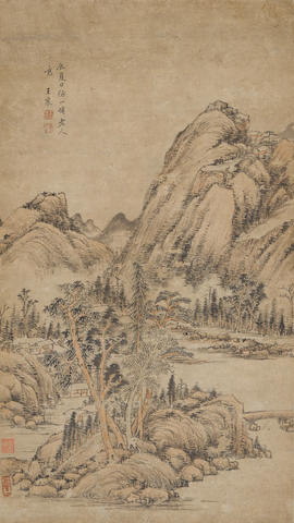 Attributed to Wang Chen (1720-1797)  Landscape after Huang Gongwang