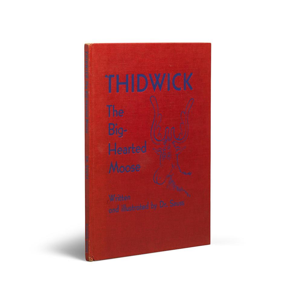 "GEISEL, THEODOR (""DR. SEUSS""). 1921-1990. Thidwick The Big-Hearted Moose. New York: Random House, (1948)."