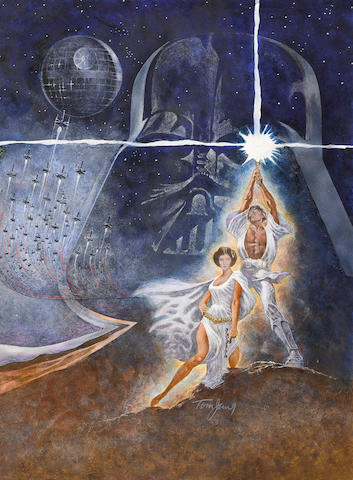 Bonhams A Tom Jung Original Star Wars Episode Iv A New Hope Concept Artwork For The One Sheet Poster