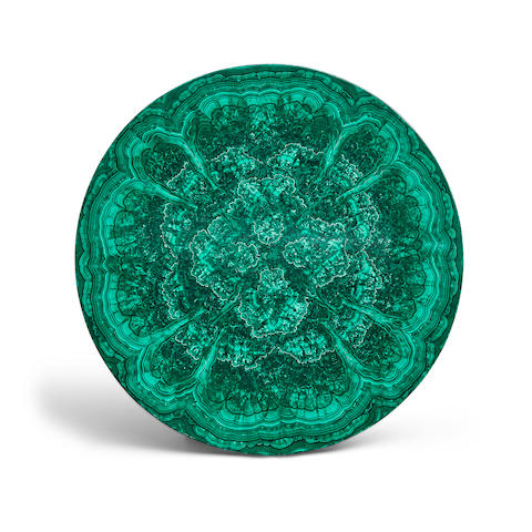 Very Fine Malachite Intarsia Tabletop