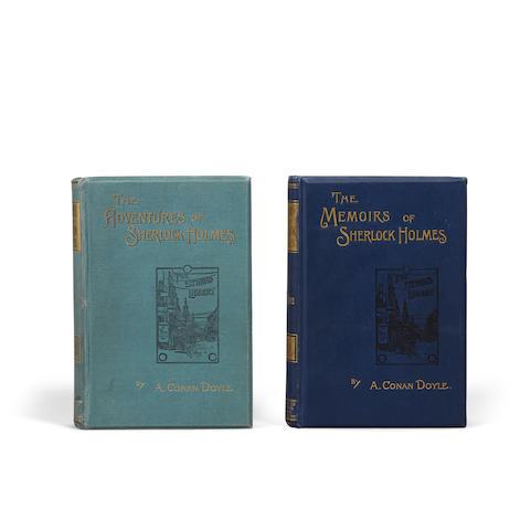 DOYLE, ARTHUR CONAN. 1859–1930. 2 titles: 1. The Adventures of Sherlock Holmes.  London: George Newnes Ltd., 1892.