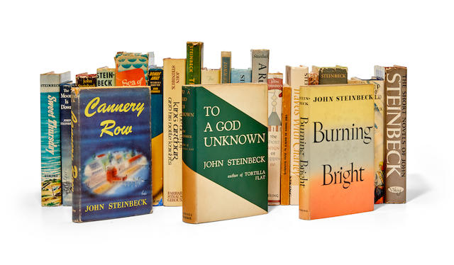 STEINBECK, JOHN. 1902-1968. A collection of the author's primary works in first edition: