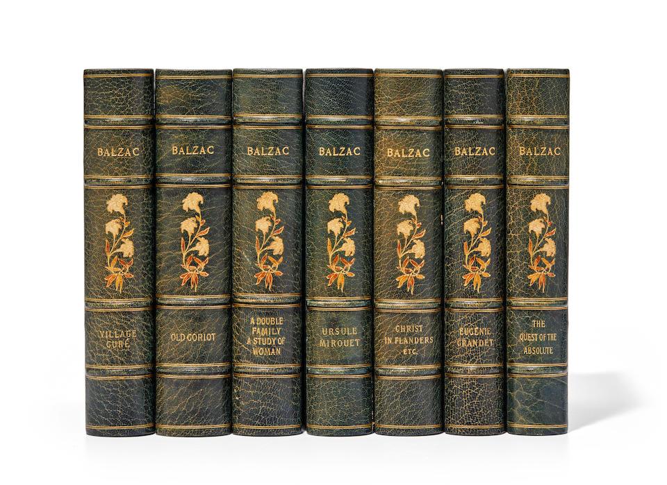 BALZAC, HONORÉ DE. 1799-1850. Works. Philadelphia: George Barrie & Son, [1895-1900].