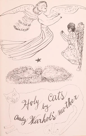 WARHOL, ANDY. 1928-1987. Holy Cats by Andy Warhol's Mother. [New York: privately printed, 1954.]