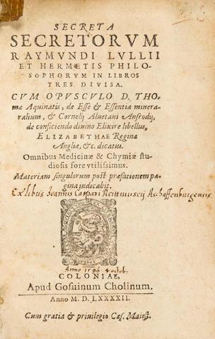 LLULL, RAMON. c.1232-1315. 2 titles: