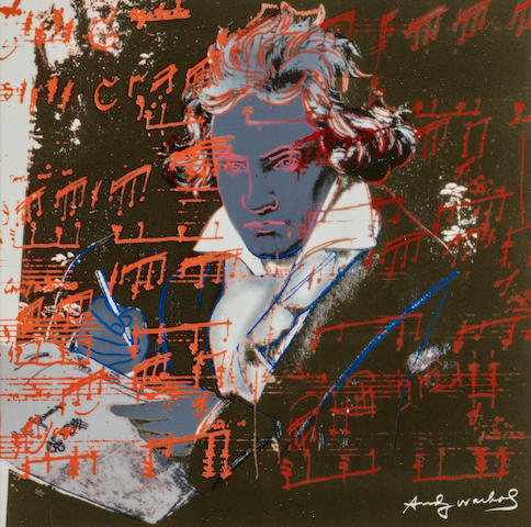 After Andy Warhol (1928-1987); Ludwig van Beethoven (Grey);