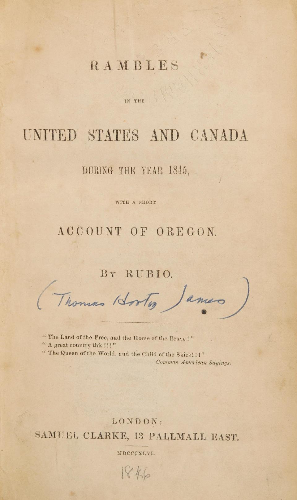 OREGON TERRITORY. 3 titles: