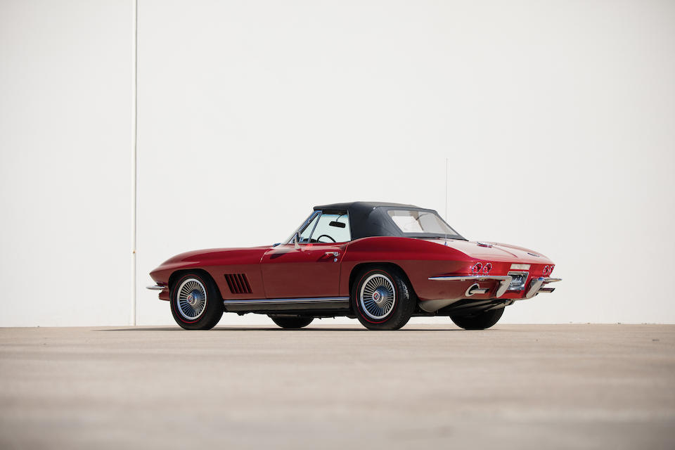 <b>1967 Chevrolet Corvette 427/390HP Roadster</b><br />Chassis no. 194677S118616<br />Engine no. T0106IL 7118616