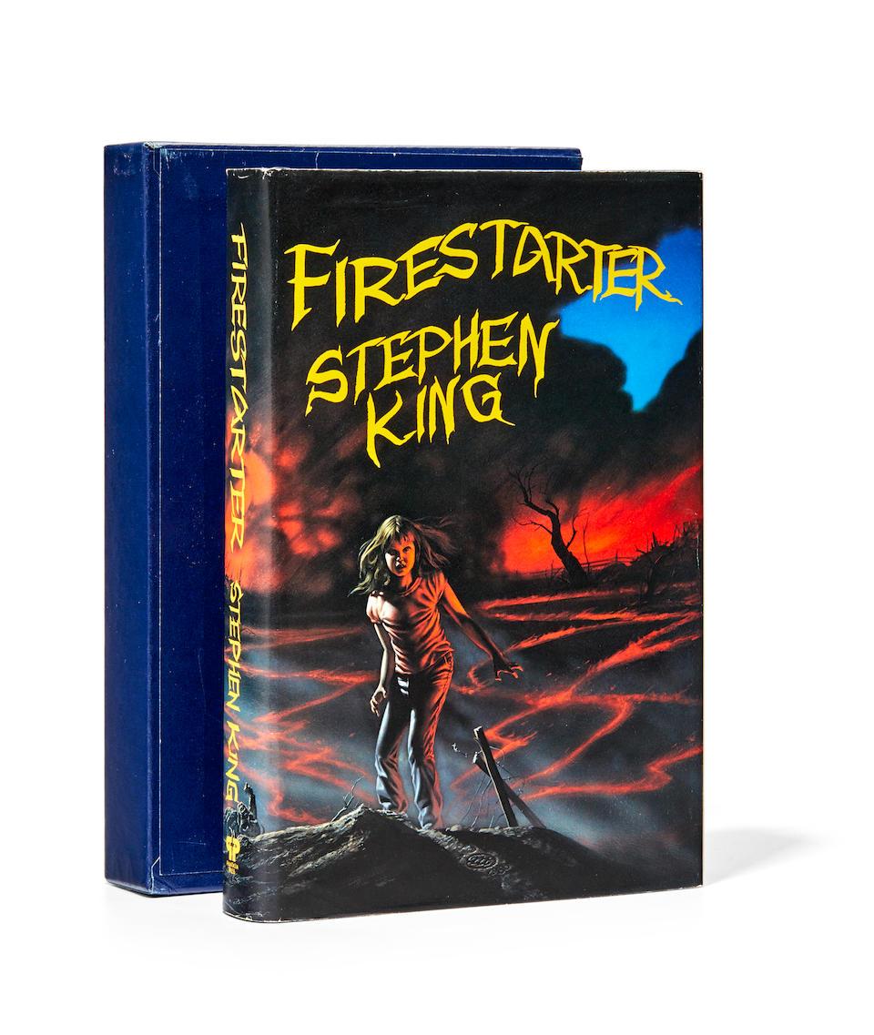 KING, STEPHEN. B.1947. Firestarter. Huntington Woods, Phantasia Press, 1980.