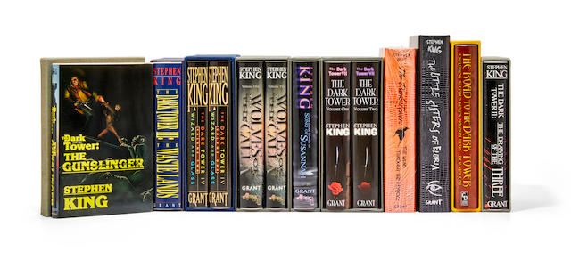 KING, STEPHEN. B.1947. The complete Dark Tower series in the deluxe issue, 10 books in 13 volumes, all in publisher's cloth with original pictorial dust-jackets and slipcases: