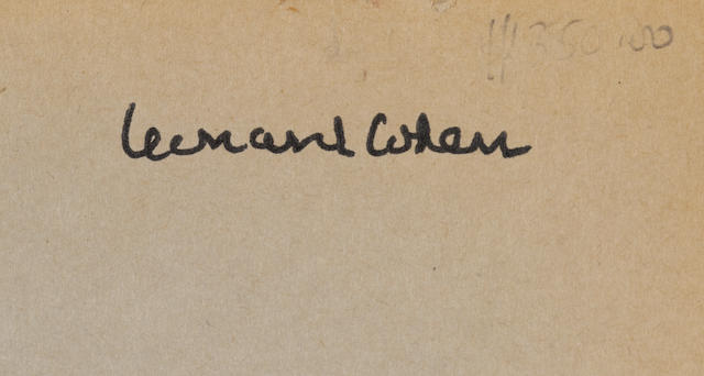 A Signed Leonard Cohen Westmont High School Yearbook    1950