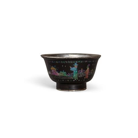 a lac burgauté bowl  17th century