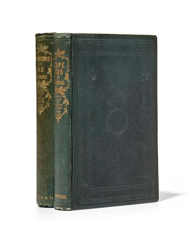 THOREAU, HENRY DAVID. 1817-1862. Two titles: 1. Cape Cod. Boston: Ticknor & Fields, 1865.
