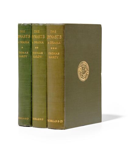 HARDY, THOMAS. 1840-1928. The Dynasts. London: MacMillan & Co, Limited, 1903-1908.