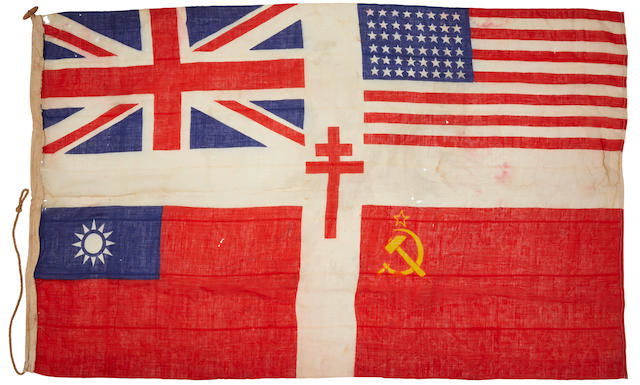 CELEBRATORY FLAG FOR THE VICTORIOUS ALLIES. [British?: c.1945.]
