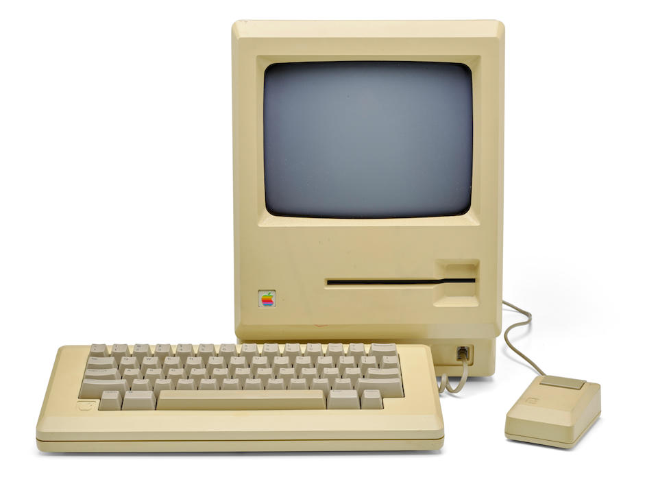 "APPLE MACINTOSH PROTOTYPE. Prototype of the Macintosh Personal Computer, with 5-1/4 inch ""Twiggy"" disk drive,"