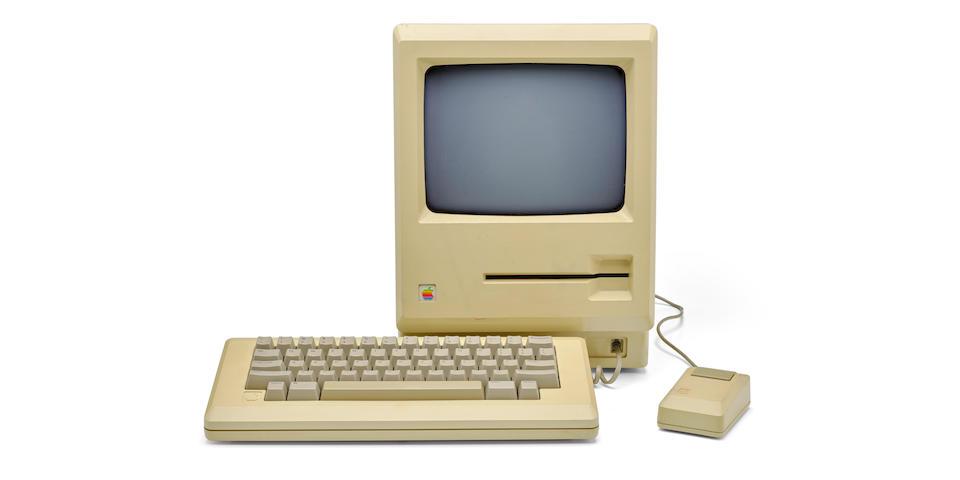 "APPLE MACINTOSH PROTOTYPE. Prototype of the Macintosh Personal Computer, with 5-1/4 inch ""Twiggy"" disk drive,"