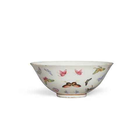 A famille rose butterfly bowl Guangxu mark, Republic period
