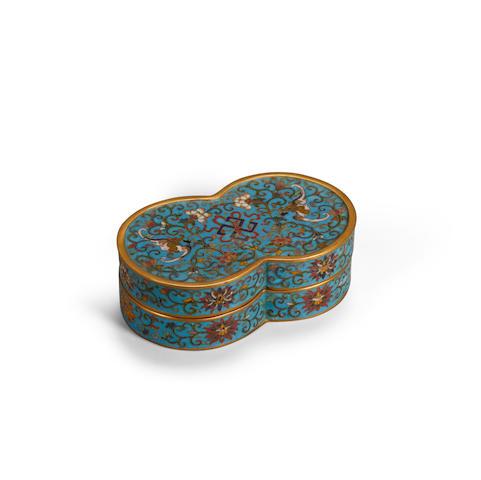 A cloisonné enamel lidded box  Qianlong mark (2)