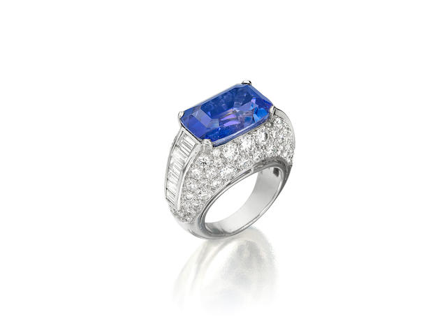 A fine sapphire and diamond 'Trombino' ring, Bulgari