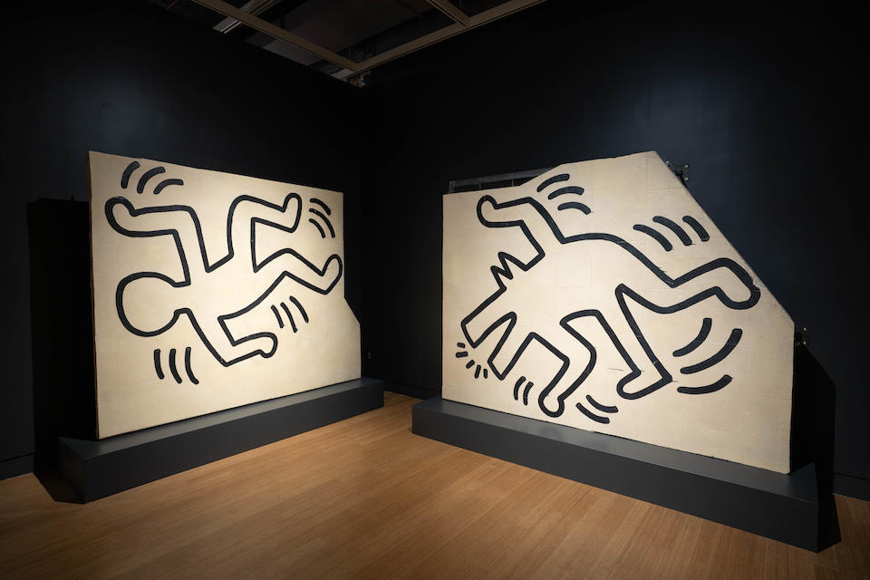 Keith Haring (American, 1958-1990) Untitled (The Church of the Ascension Grace House Mural), circa 1983/1984
