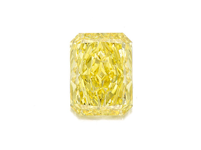A fine unmounted fancy colored diamond