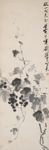 Liu Haisu (1896-1994) Grapes, 1962