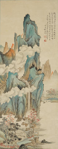 Hu Peiheng (1892-1965) Blue Mountain Landscape, 1939