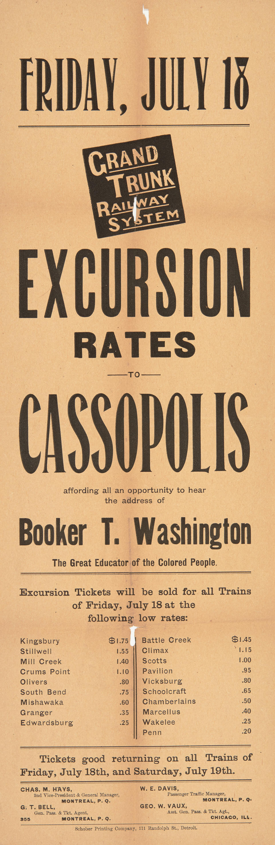 WASHINGTON, BOOKER T. 1856-1915. Up From Slavery: An Autobiography. New York: Doubleday, Page & Co., 1901.