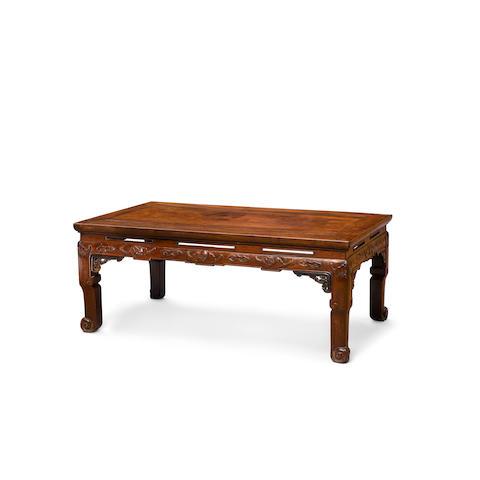 A huanghuali and hardwood kang table 19th century