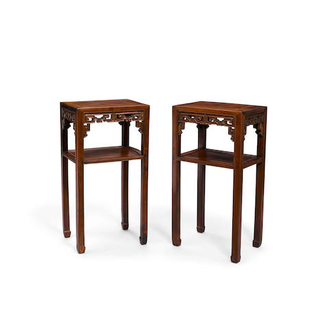 A pair of hongmu flower stands, huatai Late Qing/Republic period (2)
