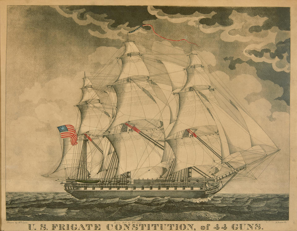 US FRIGATE CONSTITUTION. A Collection of prints, documents and artefacts pertaining to the US Frigate Constitution.