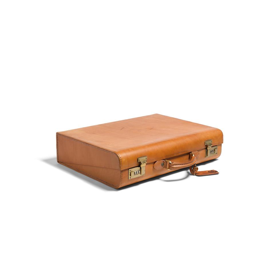 An Asprey Tan Leather Breifcase