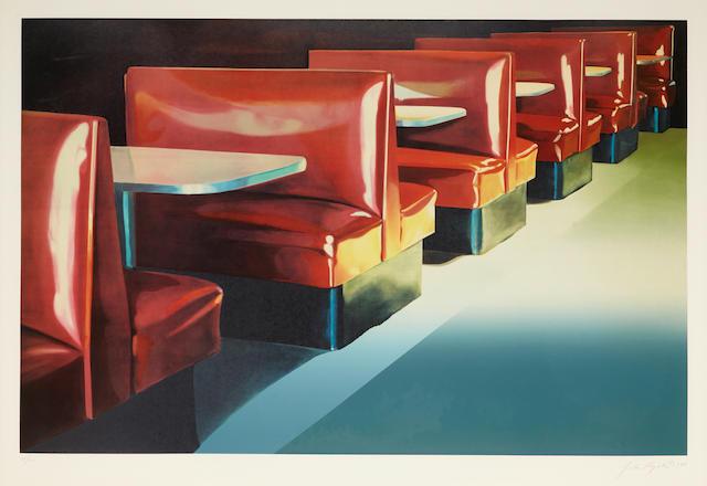 JOHN REGISTER (1936-1996) Red Booths, 1986