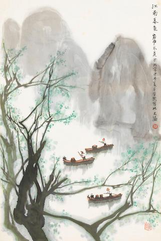 Jia Youfu (b. 1942)  Spring Landscape of Jiangnan, 1980