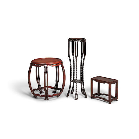 Three hardwood stands Republic period or later (3)