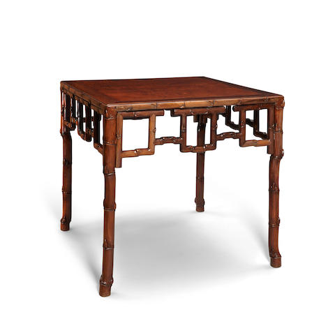 An elegant hongmu table with burlwood top Late Qing/Republic period
