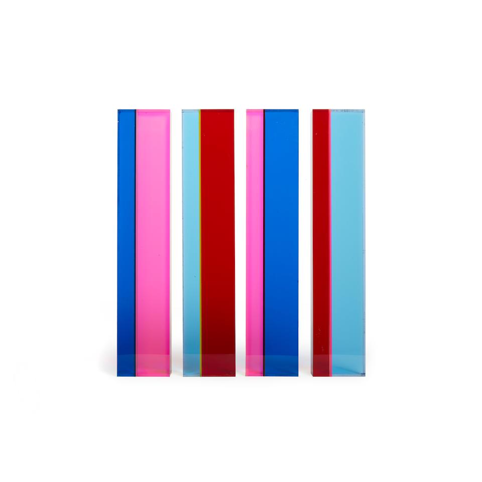 Vasa Velizar Mihich (B. 1933) Four Rectangular Columns, 1980