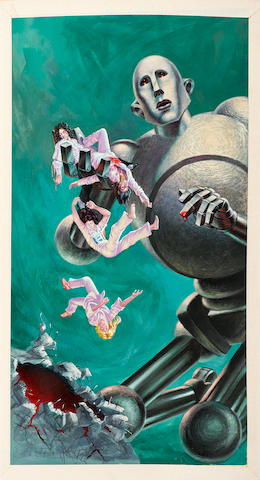 Original Artwork By Frank Kelly Freas (1922-2005) Used For The Inside And Outside Covers Of The Queen Album News Of The World 1977