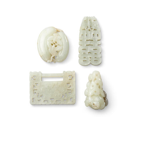 Four jade carvings
