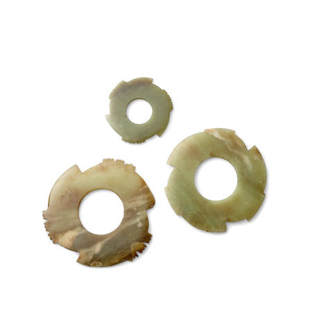 A group of archaistic bi discs (3)
