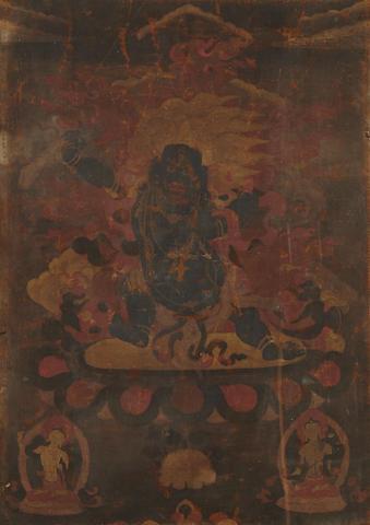 a thangka of the Sadbhuja Mahakala 19th century