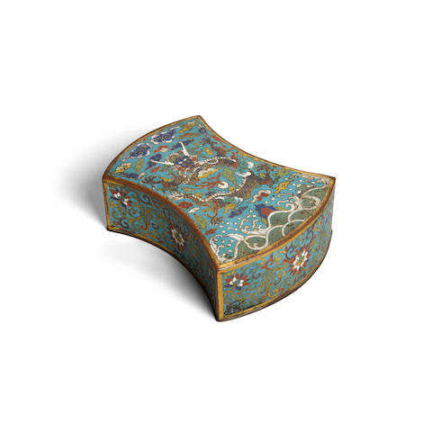 A cloisonné ingot-shaped box 18th century