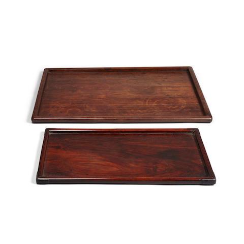 Two hongmu trays (2)