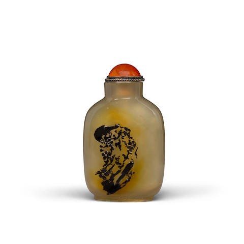 A shadow agate snuff bottle Late 19th/20th century