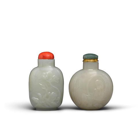 Two jade snuff bottles (2)