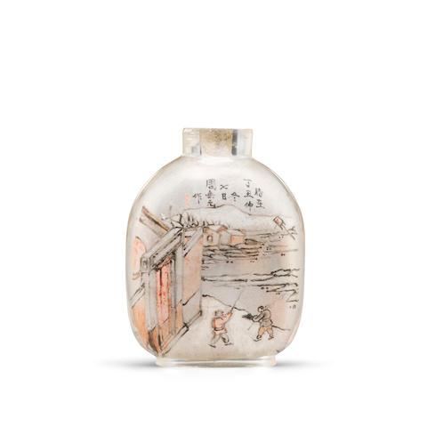 An inside-painted glass snuff bottle