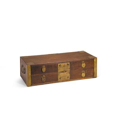 A Jichimu scale box  19th century