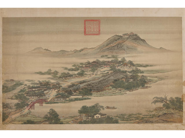Style of Yuan Jiang (active 1690-1746) Landscape
